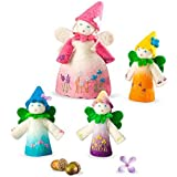 Flower Fairy Family Finger Puppets, Set Of 4