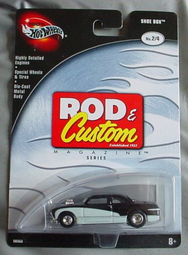 Hot Wheels 100% Rod & Custom Magazine Show Box 2/4 Black White - 1
