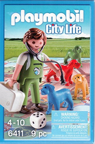 Playmobil 6411 City Life Vet Board Game - 1