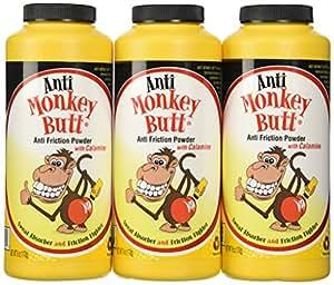 Anti-Monkey Butt Powder Anti-Friction Plus Sweat Absorber (3 pack)
