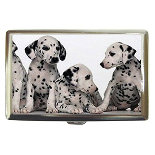Dalmatian Puppies Dogs Design Custom Business Name Card Money Credit Card Holder Box Case front-746474