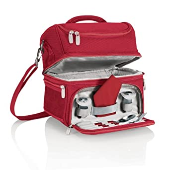 Picnic Time Pranzo Insulated Lunch Tote, Red