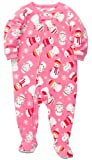 Carters Girls 1-piece Micro-fleece Pajamas (4T, Snowmen)