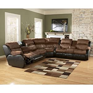 Presley Espresso Reclining Sectional 31500 Sectional On