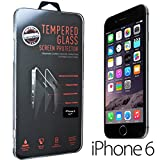 Tempered-Glass Screen Protector for iPhone 6 Premium Crystal Clear - Industry-High 9H Hardness (iPhone 6)
