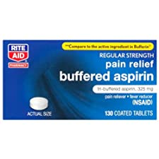 Rite Aid Buffered Aspirin 130ct
