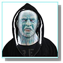 The Electro Hoodie with White Led Light and Terror Mask New Halloween Suit 2014 Size XL