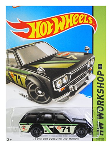 Hot Wheels, 2015 KMart [K-Day] Exclusive, HW Workshop '71 Datsun Bluebird 510 Wagon [Black] Die Cast Vehicle 202/250 (2015 Hot Wheels Datsun compare prices)