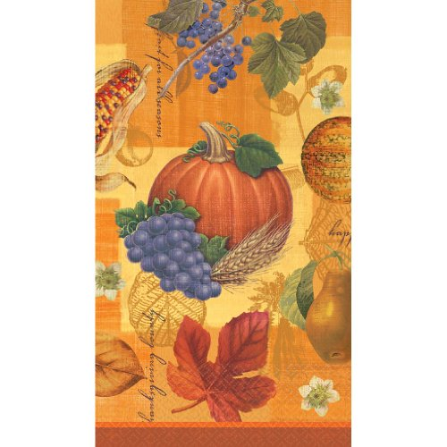 Fall Thanksgiving Scrapbook Guest Napkins Towel Celebrate Parties Harvest 16 Pk