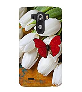Vizagbeats Butterfly With Flowers Back Case Cover for LG G3::LG G3 D855