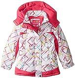 Pink Platinum Little Girls' Heavyweight Coat In Heart Print