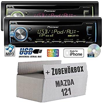 Mazda 121 - Pioneer DEH-X3800UI - CD/MP3/USB Autoradio - Einbauset