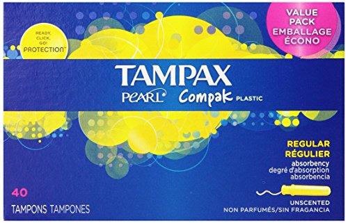 TAMPAX 丹碧丝 Pearl Plastic 珍珠塑管 卫生棉条(老例吸取量,40支*2盒) $10.38+$4.09直邮(约¥90)有喜