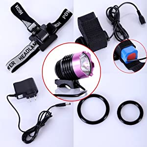 Click Here For Cheap Cree Xml Xm-l T6 Led Bike Bicycle Light Headlight Headlamp 1200lm Rose For Sale