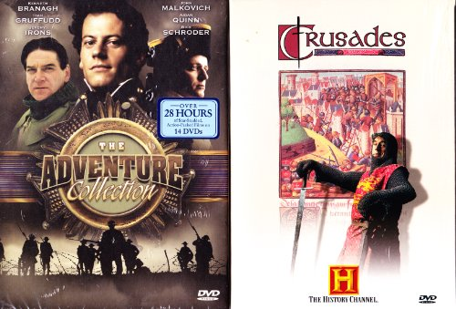 The History Channel : The Crusades Complete Uncut Mini-Series : 2 Disc Set - 200 Minutes , The Adventures Series : Shackleton : The Greatest Survival Story of All Time : Complete Uncut Version Mini Series :History Channel Napoleon Collection : Over 8 Hour
