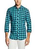 Philip Loren Camisa Hombre (Turquesa / Azul Oscuro)