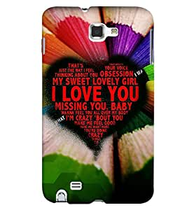Fuson Premium Lovely Girl Printed Hard Plastic Back Case Cover for Samsung Galaxy Note 1 i9220 N7000
