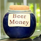Tumbleweed 'Beer Money' Funny Money Bank; Ceramic Jar With Cork Lid, Coin Bank