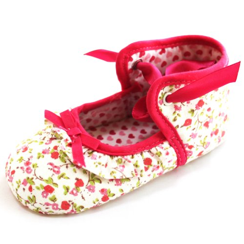 Toddler Baby Girls Princess Bow Floral Shoes X45z