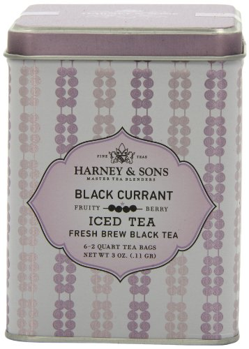 Harney & Sons Black Currant Iced Tea, 6 Brew Pouches