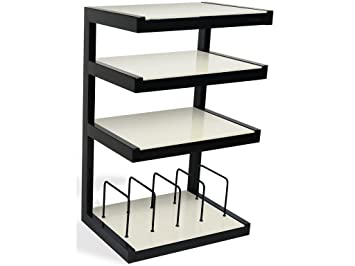 Norstone Esse Hifi Vinyl Black, White - AV equipment stands (Black, White, 22 kg)