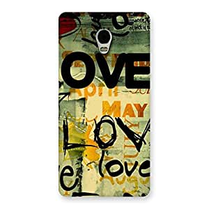 Love Typo Back Case Cover for Lenovo Vibe P1