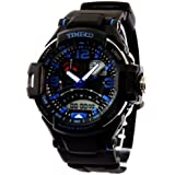 TIME100 LED Ana-digi Display Multifunction Blue Numbers Sport Electronic Watch #W40103G.03A