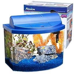 Aqueon 17775 Mini Bow 5 Gallon Desktop Aquarium Kit, Blue