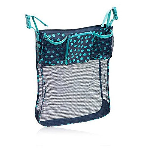 Thirty One On A Stroll Bag In Navy Lotsa Dots - No Monogram - 4639 front-881240