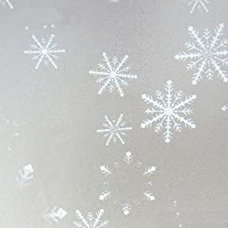 Bason Classic Meteorological Snowflakes Pattern Frosted Window Film