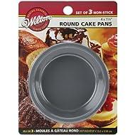 Wilton Mini Cake Pans 3/Pkg-4x1.25 Round