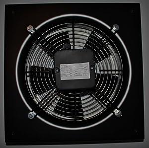Hochleistungsventilator mit einseitigem Schutzgitter zur Wandmontage (350 mm Durchmesser) (durch Gitter saugend)  BaumarktKundenbewertung und Beschreibung