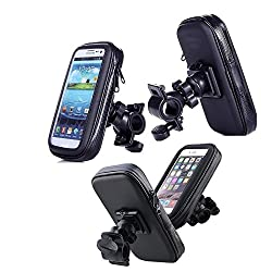 2015 Newest Universal Auto Waterproof Bike Bicycle Mount Phone Holder Bag Case for iPhone 6/ 6Plus/5s/5/4s/6s/6splus,Samsung Galaxy S3 S4 S5 (Black)