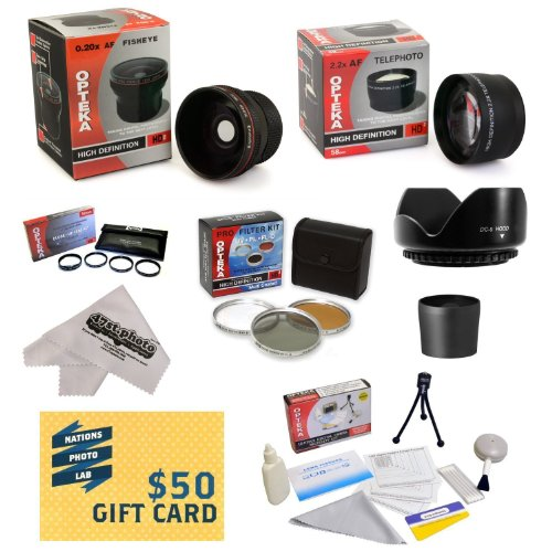 Olympus Sp-570 Sp-565 Sp-560 Sp-550 Uz Digital Ultimate 15 Piece Lens Kit Package Includes 0.20X Super Wide Angle Fisheye Lens, 5 Pc Close-Up Set (+1, +2,+4 With 10X Macro Lens) , 2.2X Hd Af Telephoto Lens + 3 Piece Pro Filter Kit (Uv, Cpl, Fld) + Tube Ad