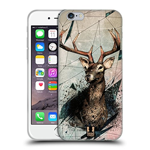 Head Case Designs Stagione Di Caccia Polysketch Cover Morbida In Gel Per Apple iPhone 6 / 6s