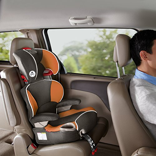 graco affix youth high back booster car seat with latch system tangerine food beverages. Black Bedroom Furniture Sets. Home Design Ideas