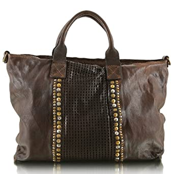 Campomaggi Women's C1493-VLF1 Top-Handle Bag Gray Gris - Grigio