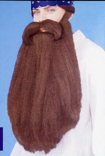 "18"" Beard/Moustache - Brown - 1"