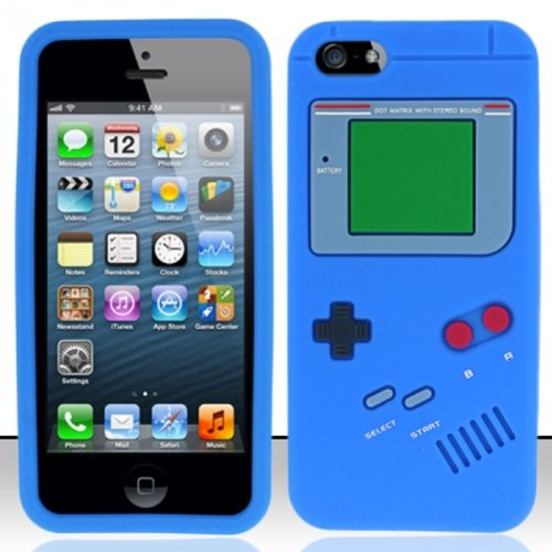 Flashbacks Old School Retro Gameboy Style Iphone 5 Case Blue