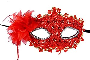 Venetian Style Lace with Rhinestone Liles Costume Masquerade Mardi Mask