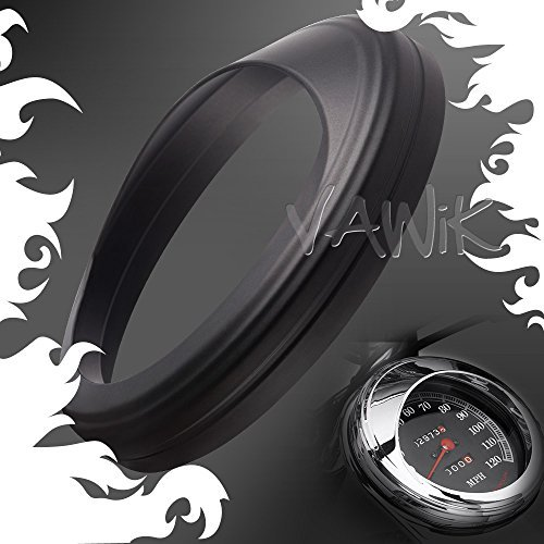 KiWAV Speedometer Trim Ring Visor cover 4-1/2 chrome Aluminum for Harley-Davidson