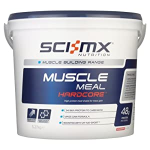SCI-MX Nutrition Muscle Meal Hardcore 5.27 kg Strawberry - High protein meal shake for mass gain