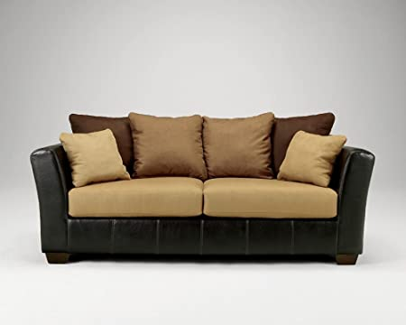 Contemporary Saddler Earth Tone Colored Sofa