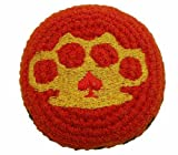 Brass Knuckles Hacky Sack / Footbag Embroidered Made In Guatemala Comes With Tips & Game Instructions Mb97