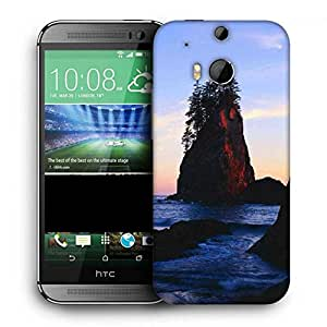 Snoogg Rocks In The Lake Printed Protective Phone Back Case Cover For HTC One M8