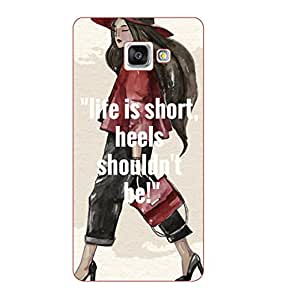 Happoz Samsung Galaxy A3 (A310) (2016) Cases Back Cover Mobile Pouches Shell Hard Plastic Graphic Armour Premium Printed Designer Cartoon Girl 3D Funky Fancy Slim Graffiti Imported Cute Colurful Stylish Boys D309