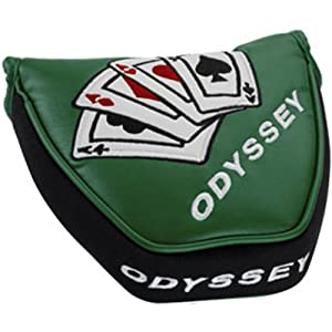 Odyssey Vegas Putter Headcover (Mallet 2ball) Green Magnetic Aces NEW