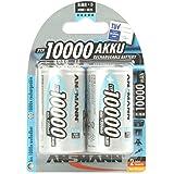 ANSMANN 5030642 Mono D Typ 10000 hochkapazitiv Profi/Vielanwender Digital Foto Akkubatterie 2er Pack