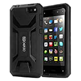 Fire Phone Case - Poetic Fire Phone Case [Revolution Series] - [Heavy Duty] [Dual Layer] Complete Protection Hybrid Case with Built-In Screen Protector for Amazon Fire Phone Black (3 Year Manufacturer Warranty From Poetic)