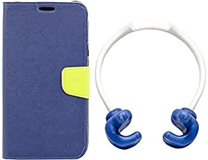 Mify Flip Cover for Samsung Galaxy Note 4 with Thumbs Up OK Stand, Blue